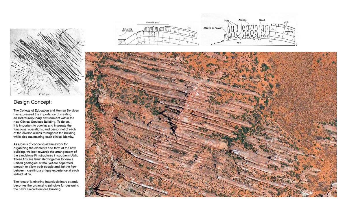 Red rocks layered on top of one another that have undergone a process known as lamination.
