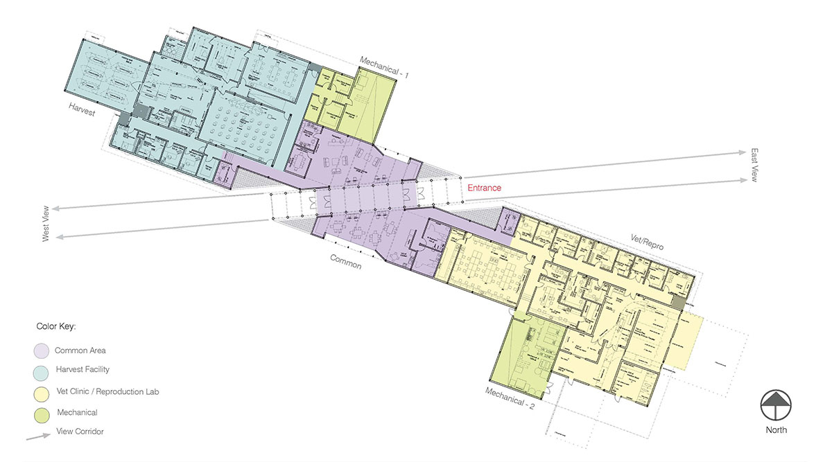 A diagram of the final building layout modern barn design.